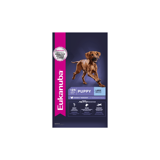 DIAMOND NATURALS LARGE BREED PUPPY (Cachorros Raza grandes) 2.72, 8.16 y 18.14 kg.